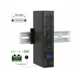HUB USB 3.0 DELOCK 4-PORT...