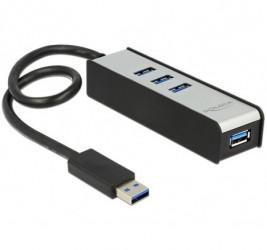 HUB USB 3.0 DELOCK 4-PORTY...